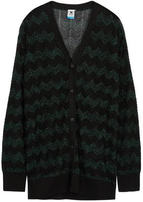 M Missoni Black metallic fine-knit cardigan