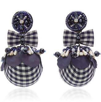 Ranjana Khan Alba Gingham Pearl Earrings