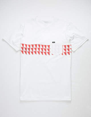 RVCA Cross Fade White Mens Pocket T-Shirt