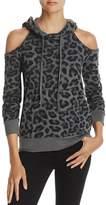 Splendid Cold-Shoulder Leopard Print Sweatshirt