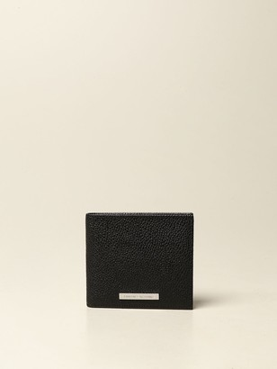 Armani Exchange Wallet In Textured Leather