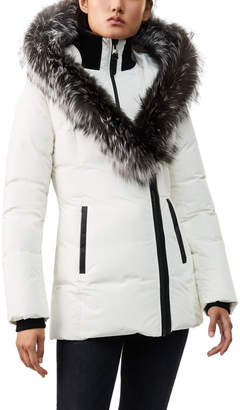 Mackage Adali Fur-Trim Hooded Midi Parka