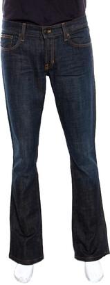 Ralph Lauren Indigo Duotone Washed Denim Faded Effect Boot Cut Jeans M