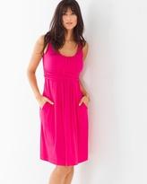 Soma Intimates Sleeveless Wrapped Waist Short Dress Pink Punch