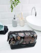 Ted Baker Clubb printed leather wash bag