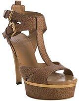 natural pebble leather 'Iman' platform sandals