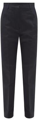 Marni Straight-leg Cotton-sateen Trousers - Navy
