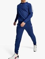Tommy Hilfiger Tommy Sport Fleece Logo Tape Crew Neck Sweatshirt, Blue Ink