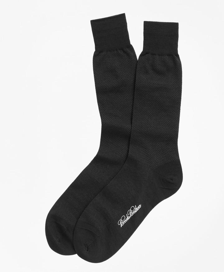 Brooks Brothers Merino Wool Mini Dot Crew Socks