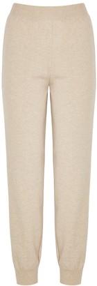 Stella McCartney Sand Lace-panelled Cashmere-blend Sweatpants