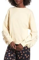 J.o.a. Women's Fringe Sweatshirt