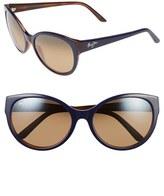 Maui Jim Women's 'Pools' 58Mm Polarized Sunglasses - Black/ Charcoal/ Neutral Grey