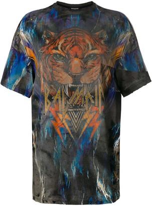 Balmain oversized graphic T-shirt