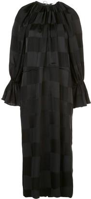 Jil Sander Grid Pattern Midi Dress