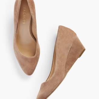Talbots Laney Asymmetrical Wedges - Suede