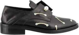 Coliac Pearl Embellished Lace Up Shoes