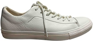 Converse White Leather Trainers