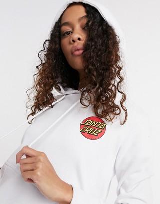 Santa Cruz Classic Dot hoodie in white