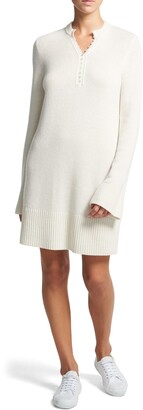 Theory Long Sleeve Cashmere Henley Dress