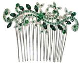 Faship Gorgeous Green Crystal Floral Hair Comb
