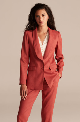 Rebecca Taylor Tailored Linen Suit Jacket