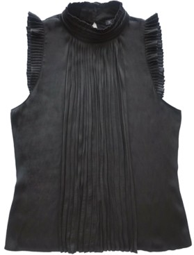 INC International Concepts Inc Pleated Knit Sleeveless Top, Created for Macy's