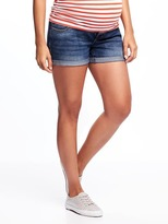 "Old Navy Maternity Low-Panel Cuffed Denim Shorts (3 1/2"")"