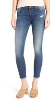 KUT from the Kloth Women's Connie Frayed Hem Ankle Skinny Jeans