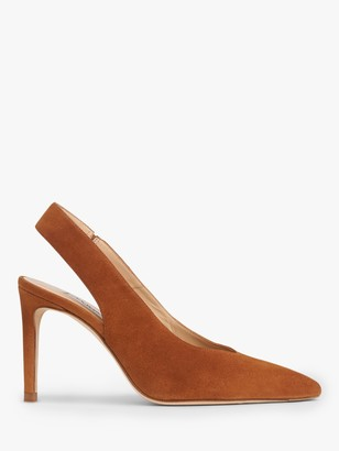 LK Bennett Ilana Suede Slingback Court Shoes, Tan