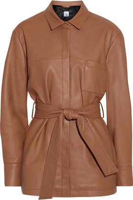Iris & Ink Fatima Belted Leather Jacket