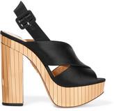 Charlotte Olympia Electra Satin Platform Sandals - Black