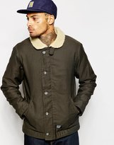 Carhartt Sheffield Jacket With Borg Collar - Green