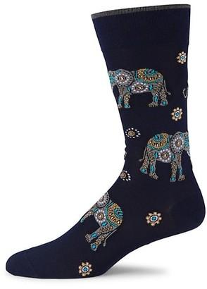 Marcoliani Milano Elephant Print Socks