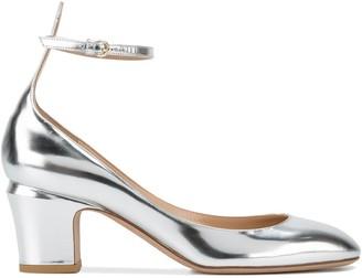 Valentino Silver Tango Ankle Strap Heels