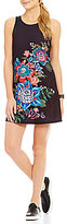 Nanette Lepore Play Active Printed Knit and Lace Compression Dress