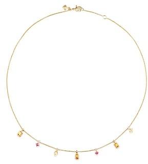 David Yurman Novella Necklace in Spessartite Garnet and Yellow Beryl with Diamonds