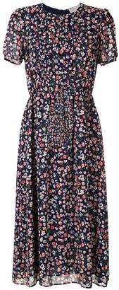 MICHAEL Michael Kors Garden pintuck short-sleeve dress
