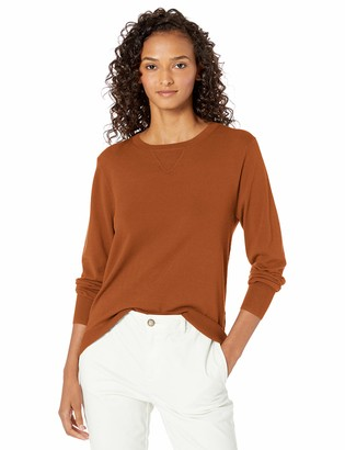 Daily Ritual Amazon Brand Women's Fine Gauge Stretch Crewneck Pullover Sweater