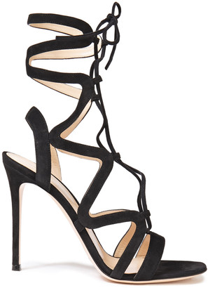 Gianvito Rossi Artemis 105 Lace-up Suede Sandals