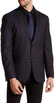 JB Britches Navy Windowpane Two Button Notch Lapel Wool Sportcoat
