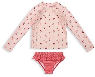 Andy & Evan Baby Girl's Cherry-Print Rashguard Swim Set