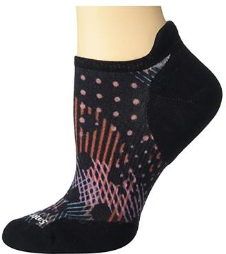 Smartwool PhD(r) Run Light Elite Dot Print Micro (Black) Women's Crew Cut Socks Shoes