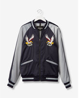 Express embroidered eagle souvenir bomber jacket