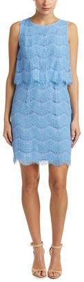 Anne Klein Women's Sleeveless Lace Popover Dress