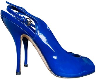Gucci Blue Patent leather Heels