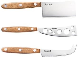 Baccarat Gourmet 3 Piece Cheese Knife Set