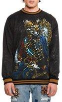 Dolce & Gabbana Military Cat Portrait Sweatshirt, Multicolor