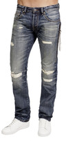 Cult of Individuality Rebel Straight Leg Zipper Jean