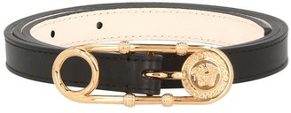 Versace Virtus calf leather belt
