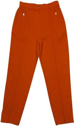 Christian Dior Orange Wool Trousers